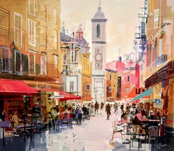 Vieux Nice by Tom Butler - Original Collage on Board sized 30x26 inches. Available from Whitewall Galleries